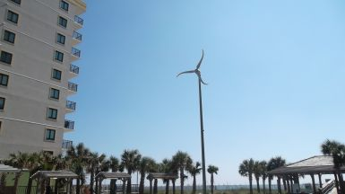 Wind Turbine on the Beach
