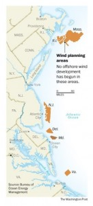 Wind Planning Areas in Maryland