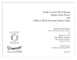 S.C. Wind Energy Supply Chain Survey and Offshore Wind Economic Impact Study