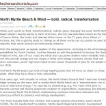 North Myrtle Beach & Wind — Bold, Radical, Transformation