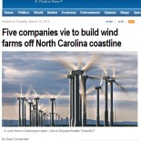 Five Companies Vie to Build Wind Farms off North Carolina Coastline