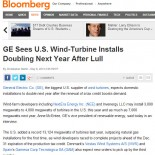 GE Sees U.S. Wind-Turbine Installs Doubling Next Year After Lull